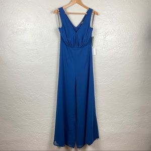 Hold My Hand Navy Blue Sleeveless Jumpsuit Size M
